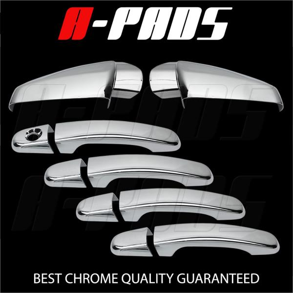 DOOR HANDLE COVER W//O PASSENGER KH FOR CHEVY EQUINOX 10-15 CHROME MIRROR COVER