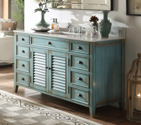 Benton Collection Abbeville Rustic Vintage Bathroom Sink Vanity Cf 66323bu 60 Ebay