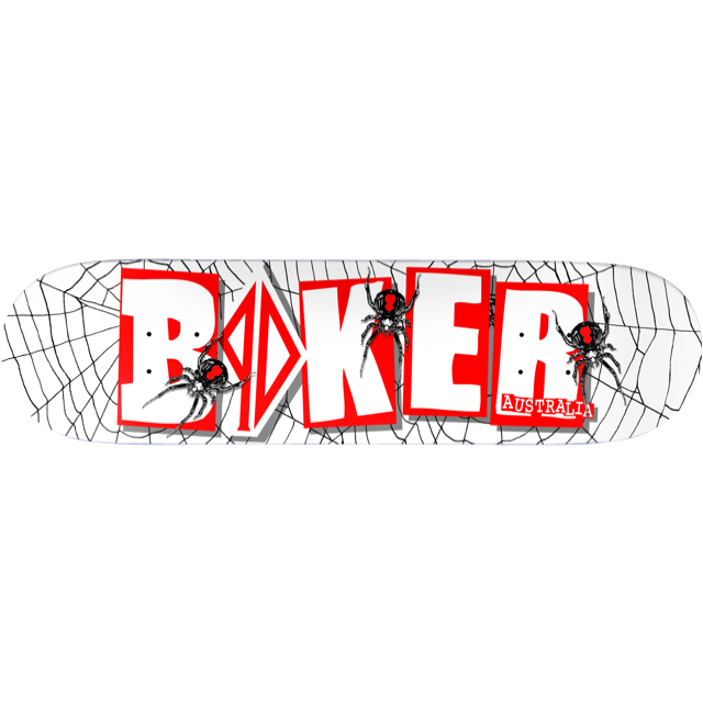 Baker Skateboard Deck PD Spider 8.25 Piss Drunx FREE GRIP & POST new