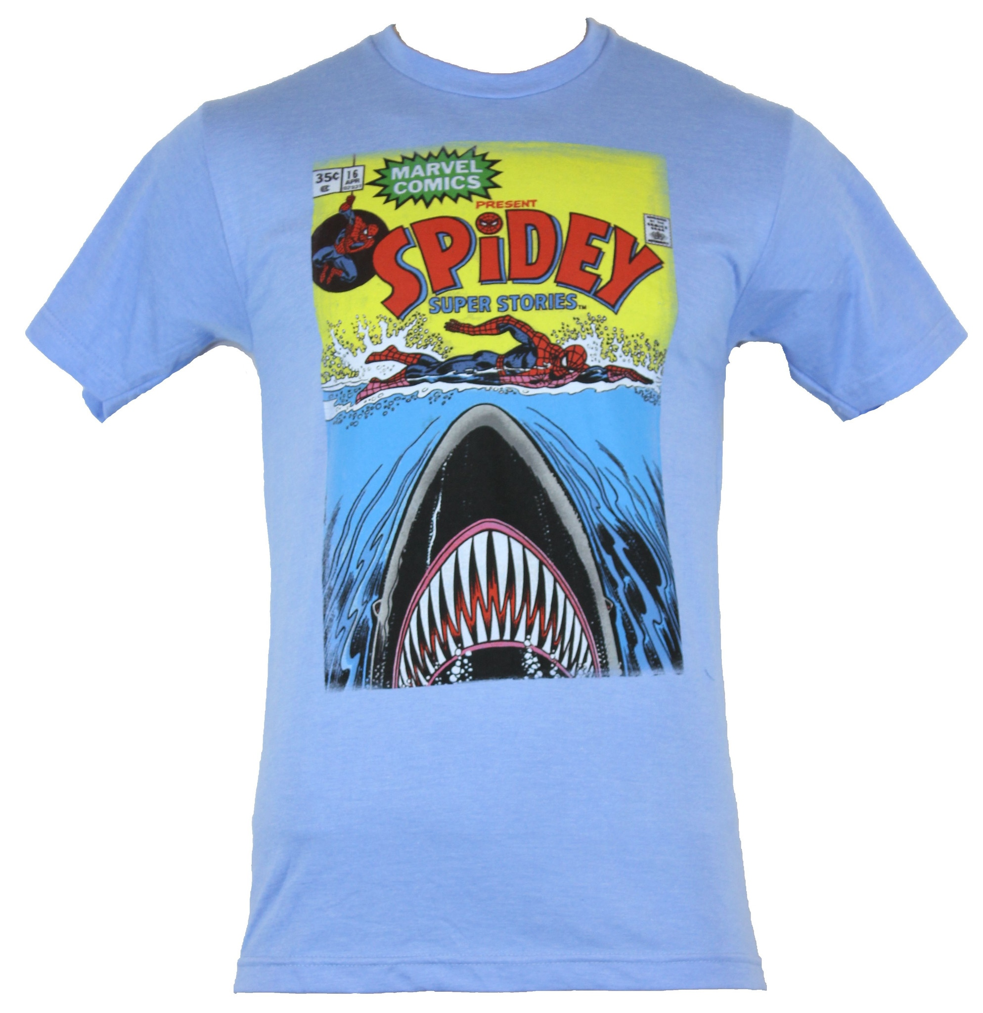 77df7a85 Details about Spider-Man (Marvel Comics) Mens T-Shirt - Spidery Super  Stories Shark Cover