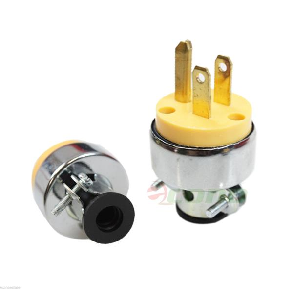 lot of 2 replacement 3 prong male electrical plug heavy duty free shipping ebay. Black Bedroom Furniture Sets. Home Design Ideas