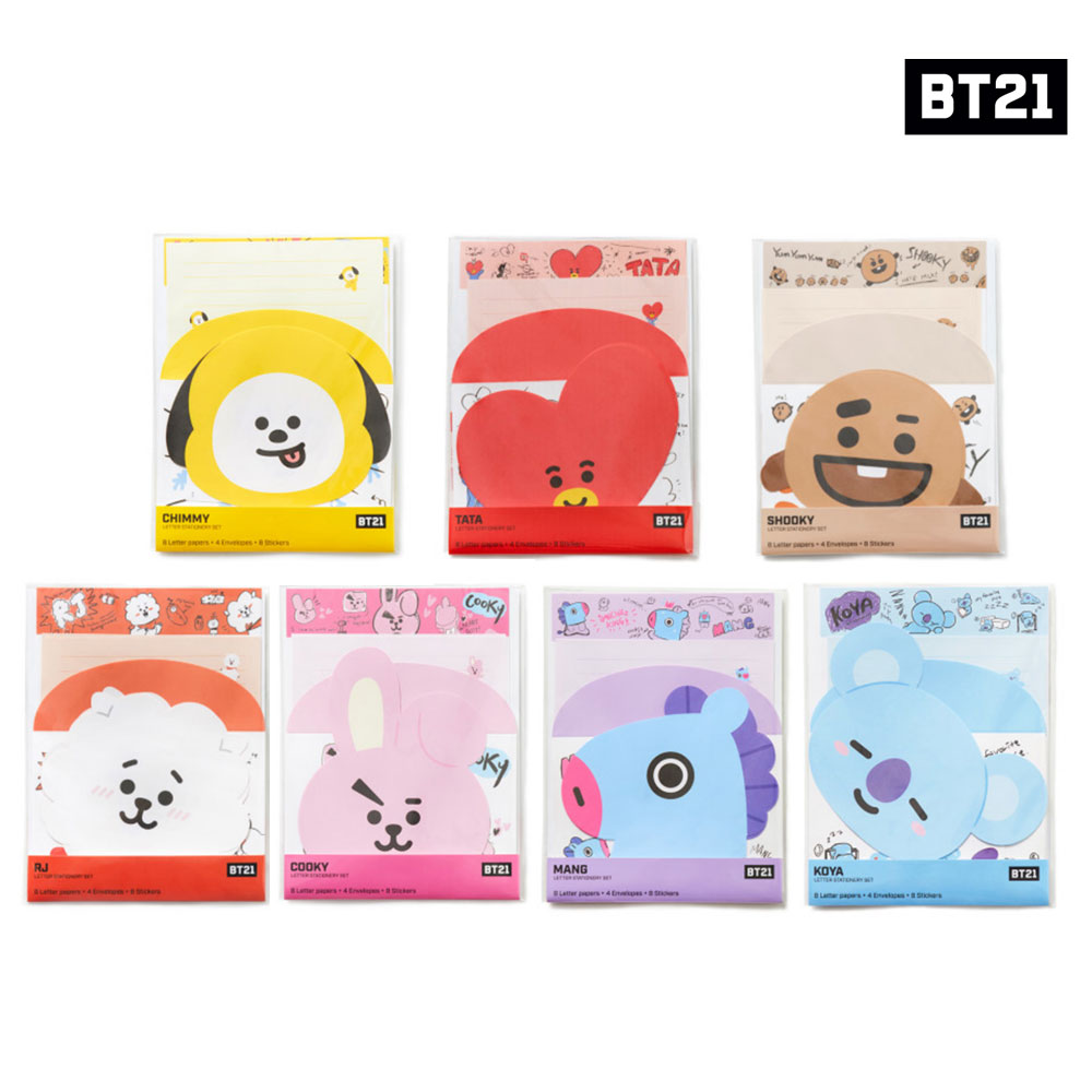 BTS BT21 Official Authentic Goods Letter Stationery SET 7character