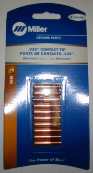 Miller Original 206186 Fastip Contact Tips .035 .030 AL 100 PC pack Free Ship