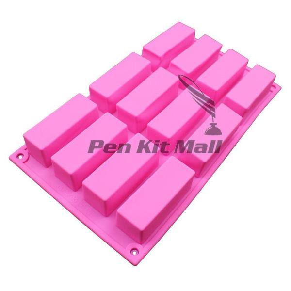 pkmsilicone12square 12 cavity silicone mold for pen blank resin