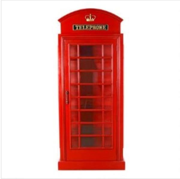 British Phone Booth Cabinet - London Red Telephone Box 6FT Display ...