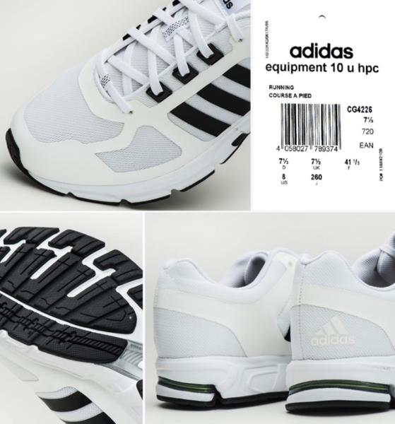 promo code ace3f d818e Adidas Men Equipment 10 Haptic Training Shoes Running White Sneakers ...
