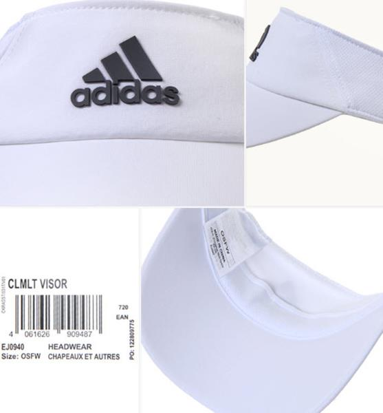 4cc295bc95 Details about Adidas Clima-lite Visor Caps Running Hat Golf White  Adjustable Hats Cap EJ0940