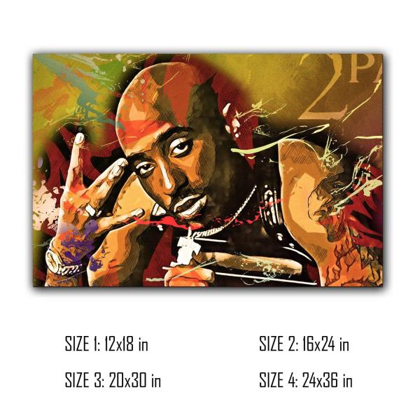 Tupac 2pac Mix Concept Print Painting Picture Wall Art Canvas Home Décor