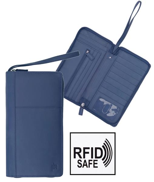 Prime Hide RFID Blocking Soft Leather Passport Holder slip in Cover