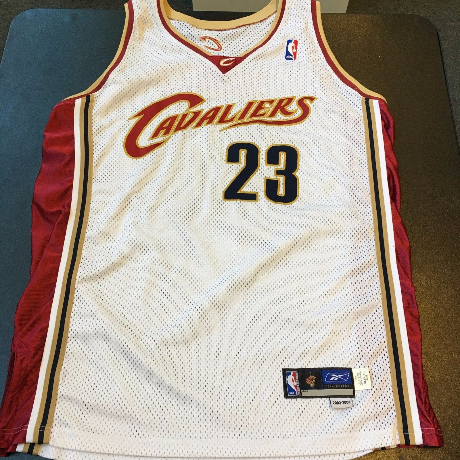 hot sales 941a8 ddaa6 Details about Lebron James 2003-04 Rookie Game Model Authentic Cleveland  Cavaliers Jersey