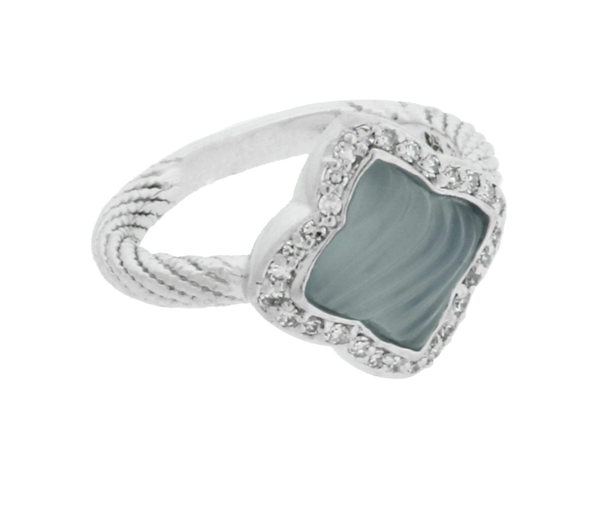 ring itm quatrefoil blue david size rings chalcedony yurman diamond gold white