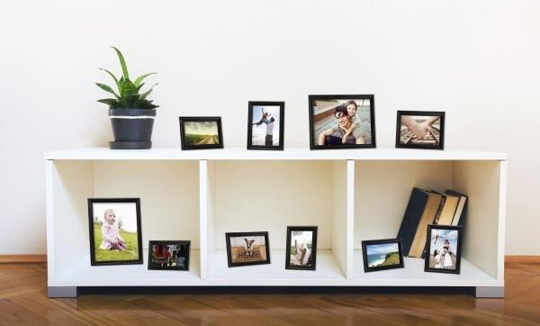 picture frames on staircase wall. Set 10 Black Wooden Picture Photo Frames Frame Staircase Wall Stairway Family On