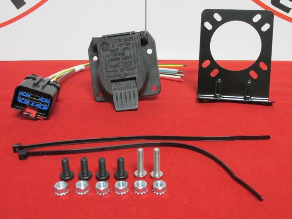 details about dodge ram chrysler jeep 7 way trailer tow wiring harness repair kit new oem Truck Trailer Wiring
