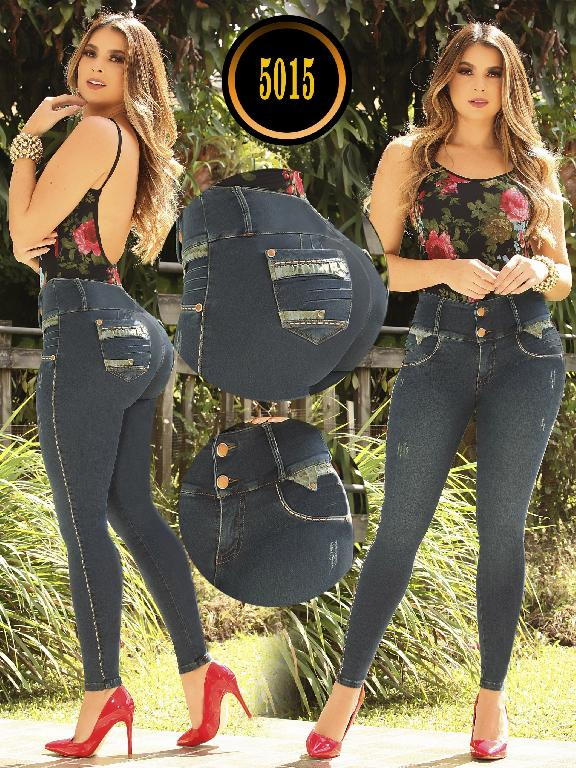 5d5089f997a Details about Colombian Jeans Slimming Push Up Levanta Cola BluePockets  Butt Lifting Skinny