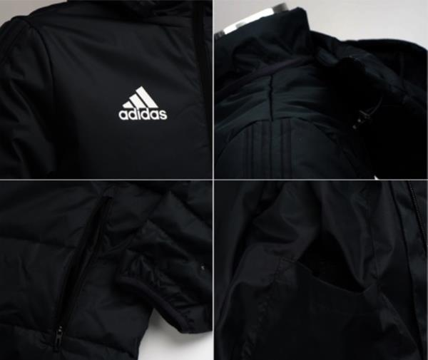 a7b4ce178630 Adidas Men Tiro 17 Long Down Jumper Padded Jacket Winter Black Parka ...