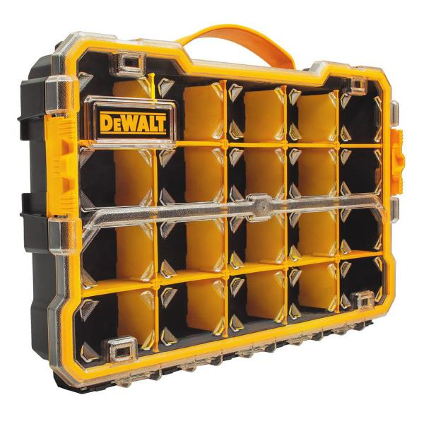 SMALL PARTS ORGANIZER 20 Compartment Removable Dividers Dewalt Tool Bits Storage