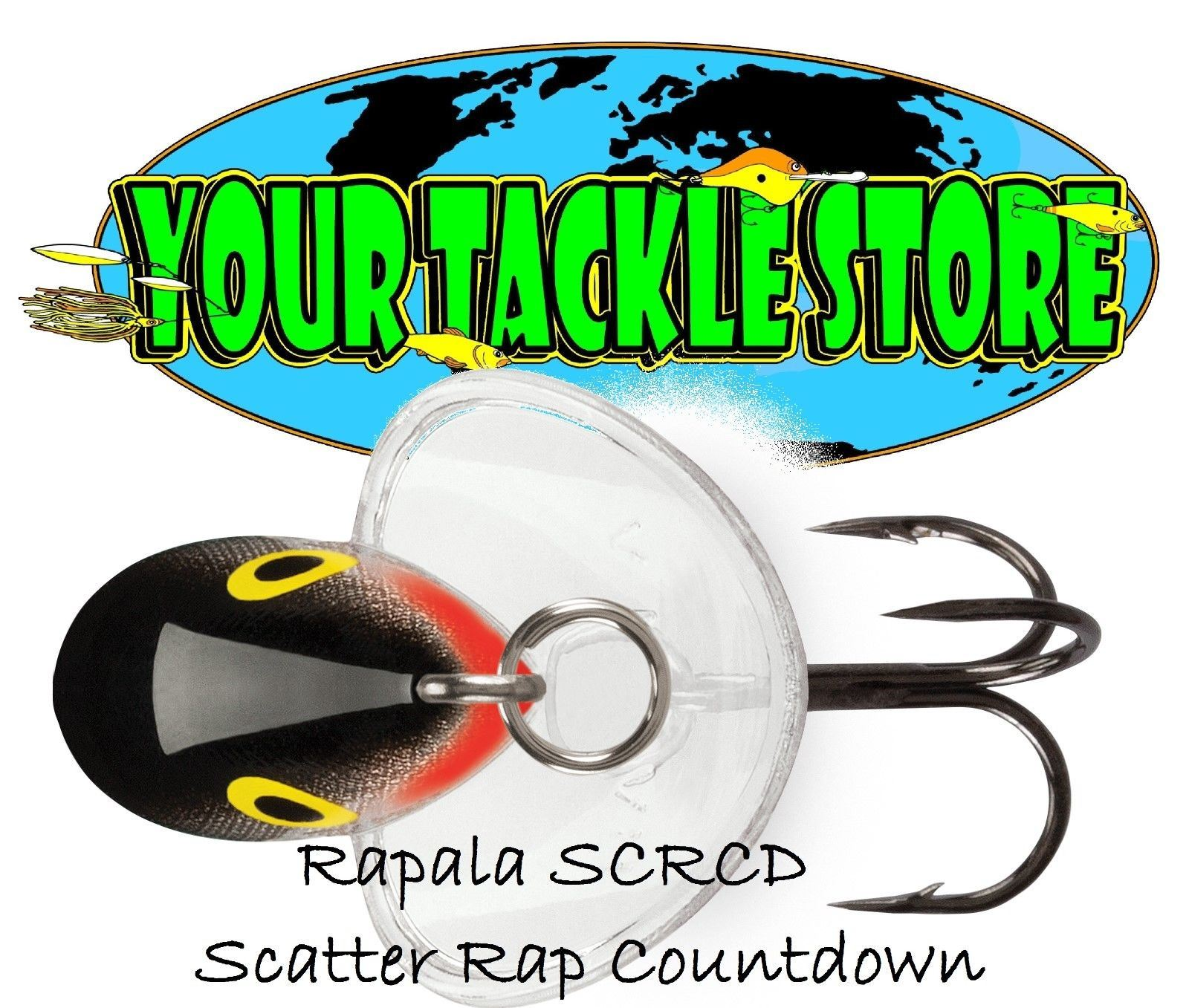 LOT OF 3 RAPALA SCATTER RAP COUNTDOWN SCRCD-07 RT//RAINBOW TROUT FISHING LURE