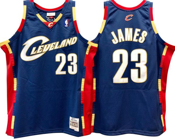 reputable site c147d 5f924 Details about LeBron James Cleveland Cavaliers Hardwood Classics Throwback  NBA Swingman Jersey