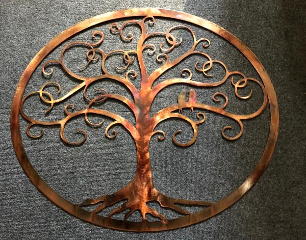"Framed Oval Love Bird Swirled Tree of Life 30 1//2/"" wide by 26 1//4/"" by HGMW"