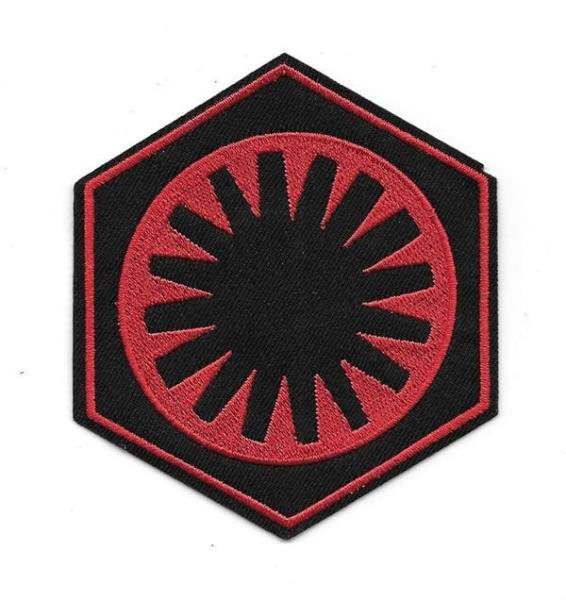 Star Wars The Force Awakens Movie First Order Red Logo Embroidered