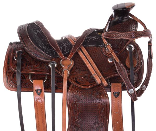 Details about Used Ranch Saddle 15 14 A Fork Western Work Roping Roper  Trail Horse Tack Set