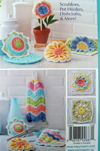 Details about Crochet Spring Favorites Using Scrub It! Yarn 12 Patterns  Mary Maxim