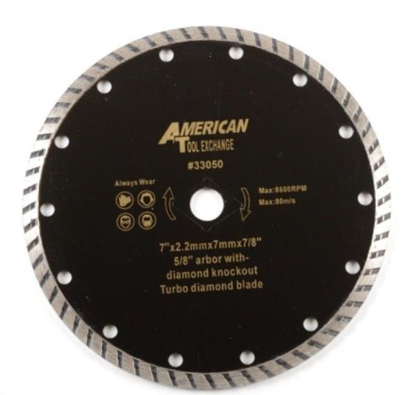 7 turbo diamond blade 58 arbor with diamond knockout circular saw 7 turbo diamond blade 58 arbor with diamond knockout circular saw blades 8600 greentooth Images