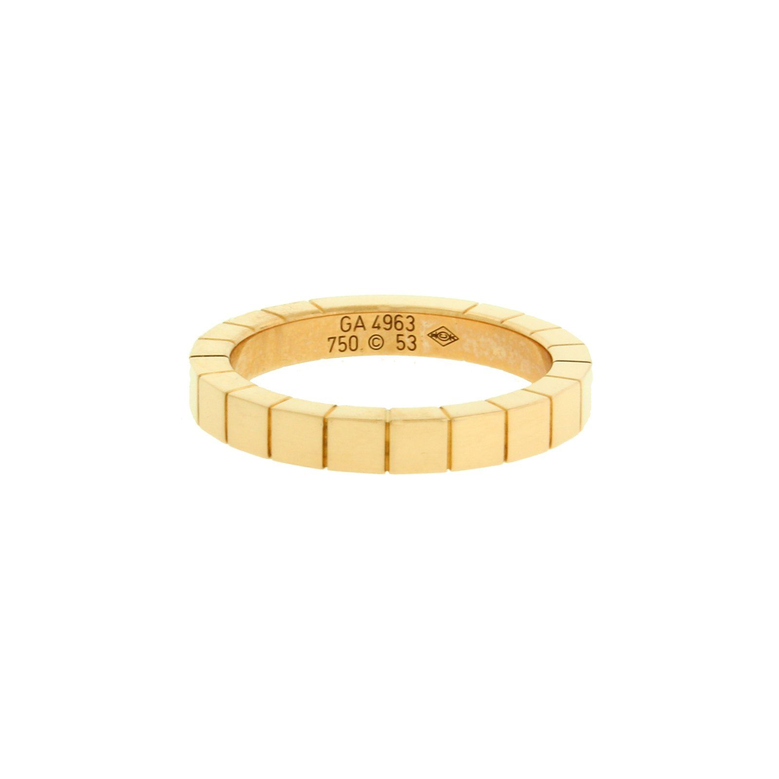 f7b9ab1c081 Details about Cartier Lanieres 18k yellow gold band ring size 52 (US 6)