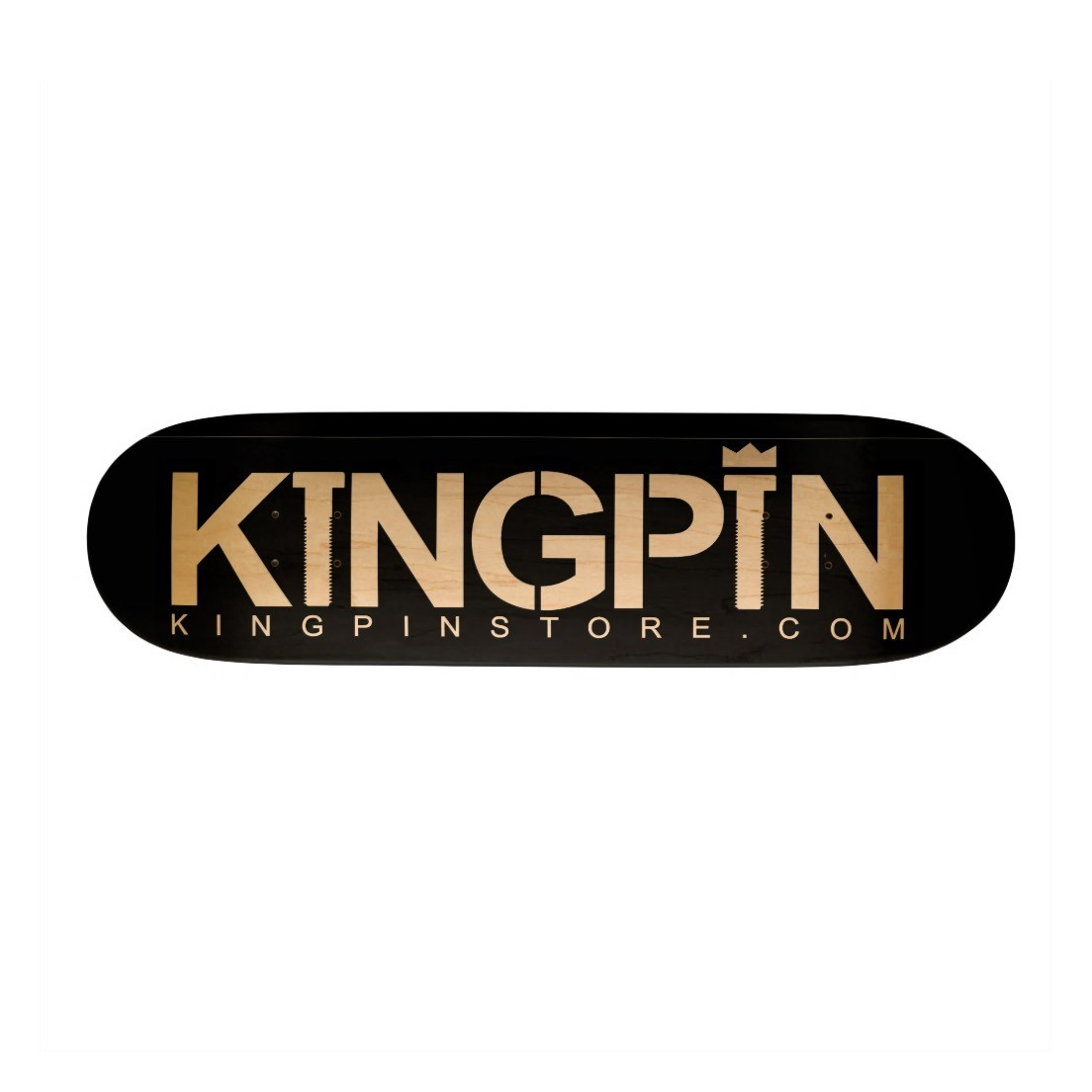 Kingpin Skate Supply Deck Woodgrain king pin skateboard GRIP FREE POST