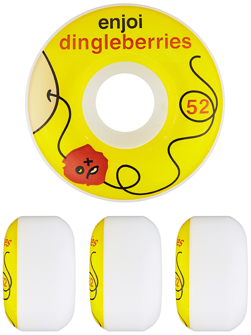 Enjoi Skateboard Wheels Dingleberries 52mm 99a New FREE POST