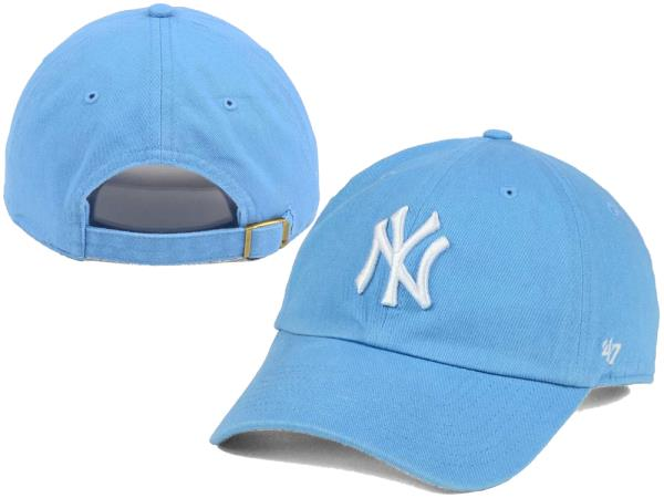 New York Yankees  47 MLB Women s Powder Blue White  47 CLEAN UP Cap ... 8dd5cc049901