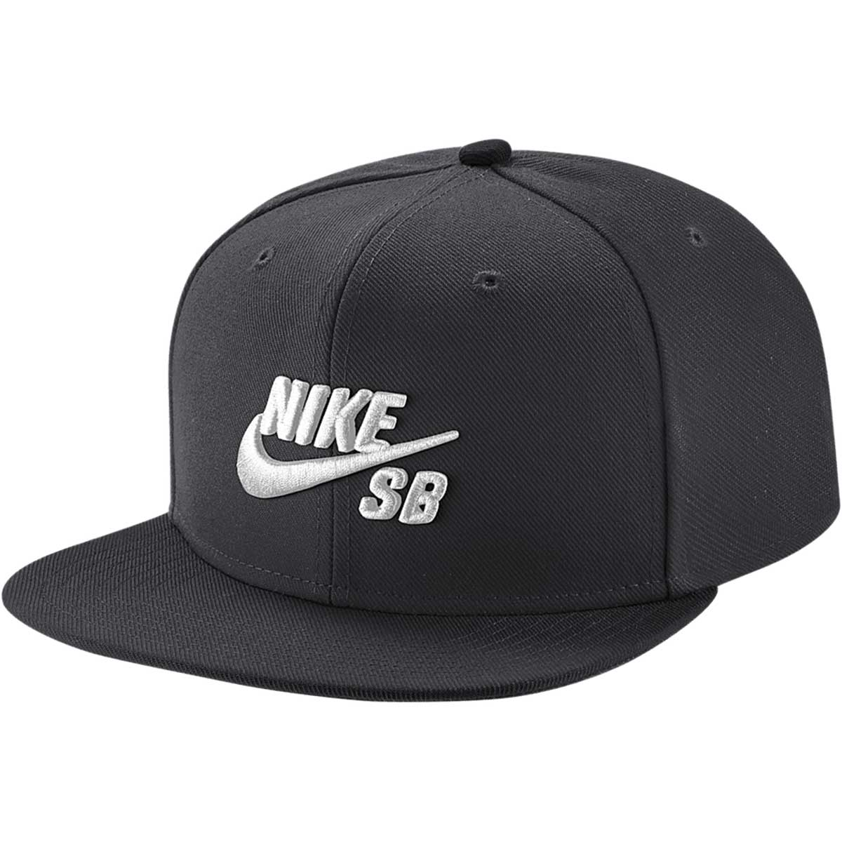 NIKE SB Cap Icon Pro Black White Snapback New Skateboard Hat FREE POST