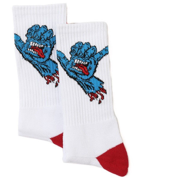 Santa Cruz Socks Shaka 2 Pack Screaming OSFA New Skateboard Sox