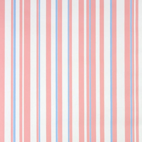 Details About 1970s Vintage Wallpaper Retro Striped Wallpaper With Pink Blue And White Stripes