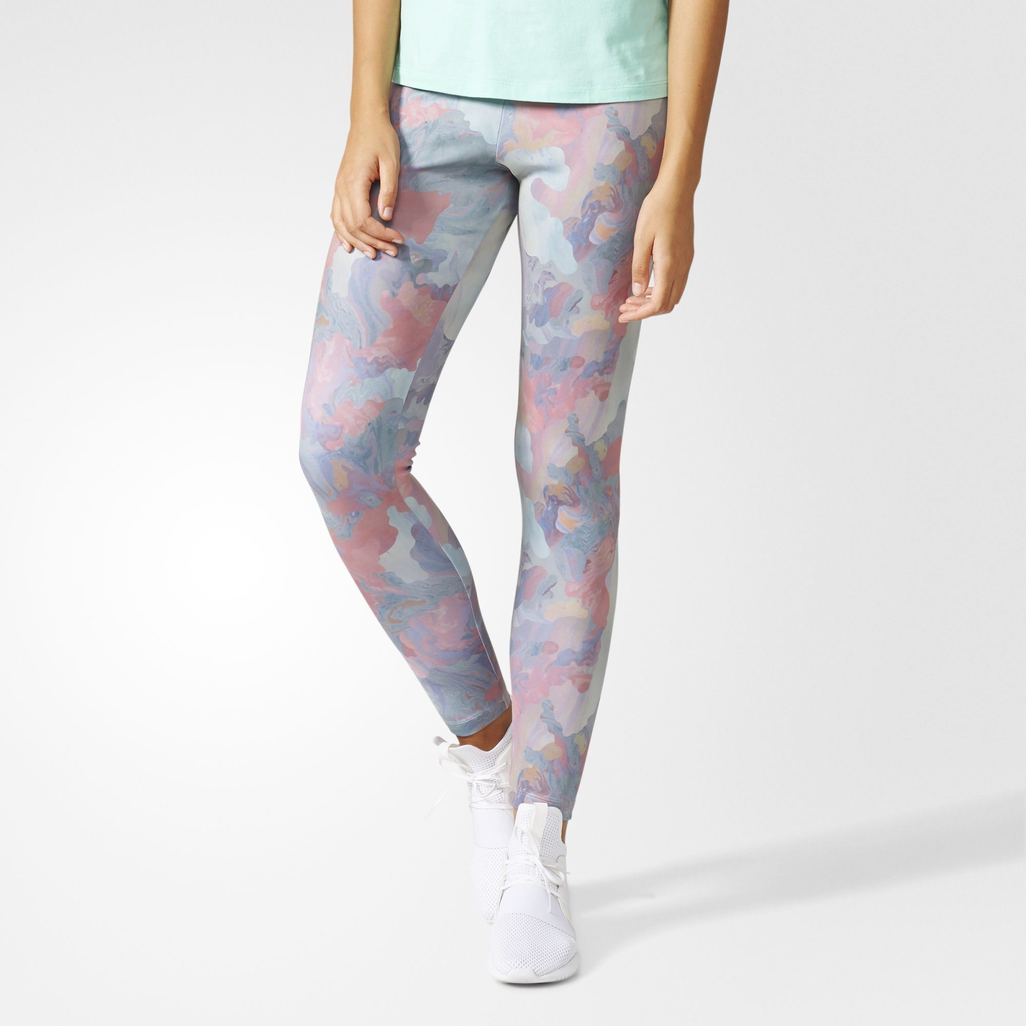 3025412867fd0 adidas Originals Womens Autumn Pastel Camo Trefoil Tight Leggings | BR6599.  All sizes listed are UK. See sizing tab below for conversions.