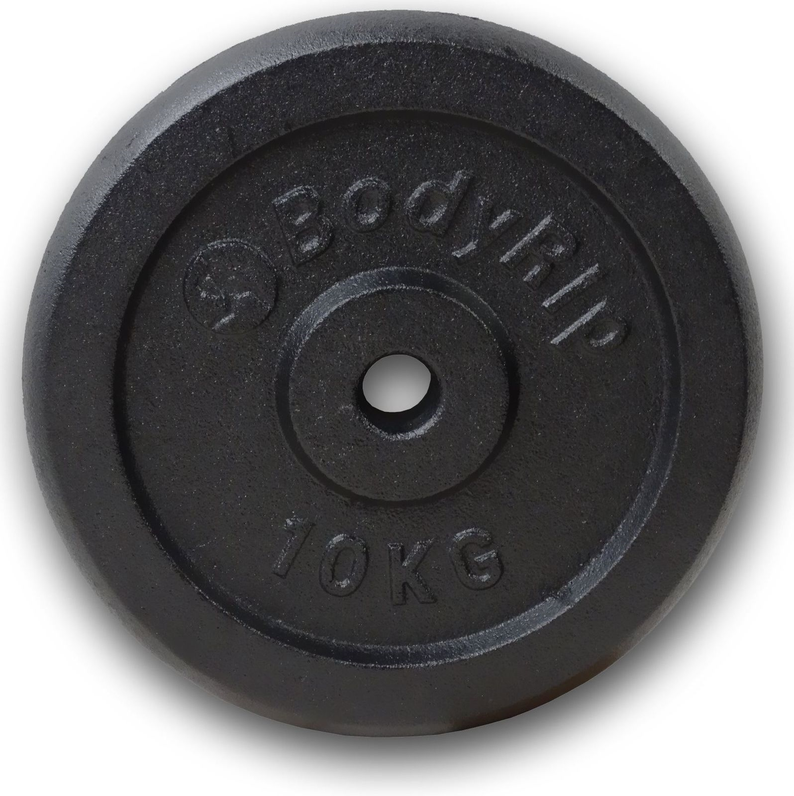 """BodyRip 2 X 15Kg Cast Iron 1/"""" Hole Weight Plates Discs Weights Gym Muscle"""