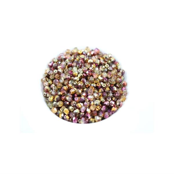 Czech Fire Polished Faceted Round Glass Beads~Twilight~4mm