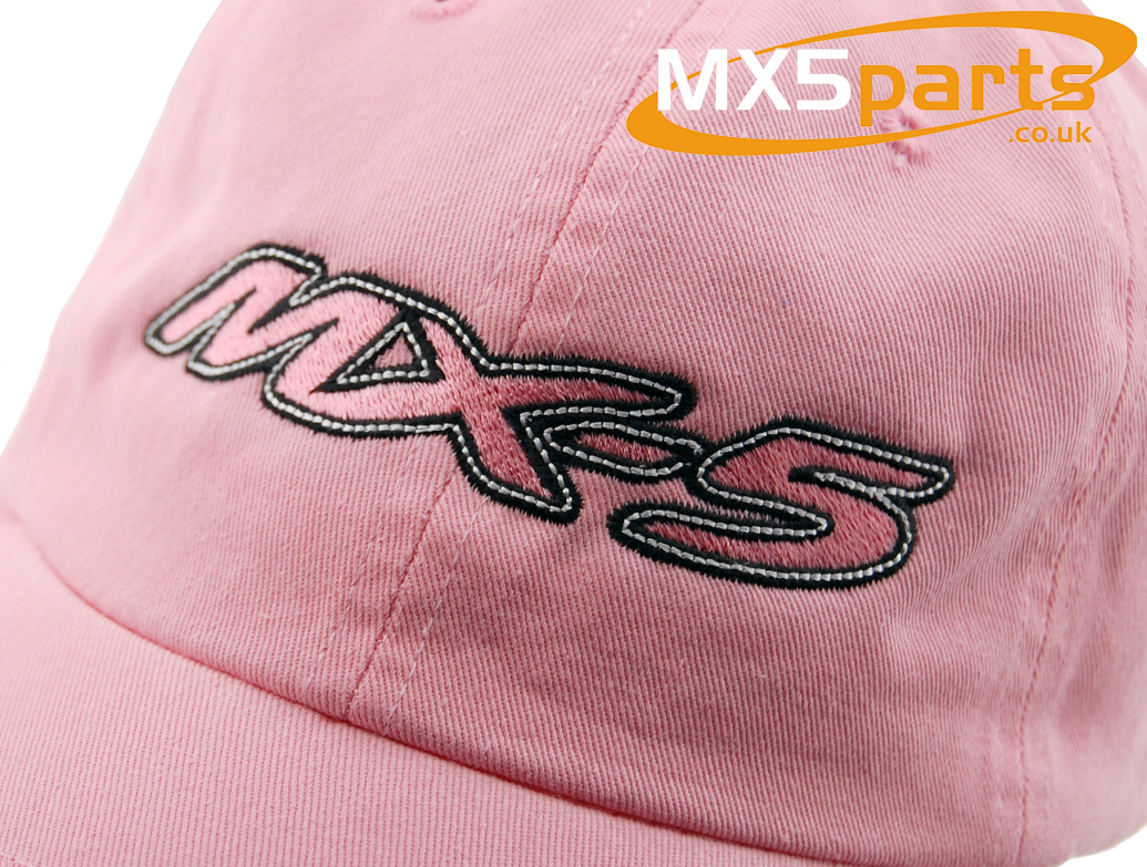 0a0eef53b69 Official Mazda MX5 Merchandise Baseball Style Pink Cap With Large MX-5 Logo