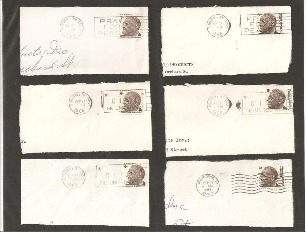 Set Of Six Franklin D Roosevelt 6 Cent Postage Stamps Post Marks 1968 S571 Ebay
