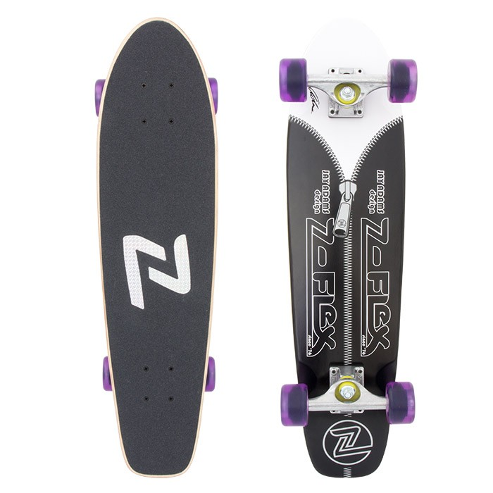 Z-Flex Skateboard Complete Jay Adams Black Zipperhead Zflex Cruiser Z Flex FREE POST
