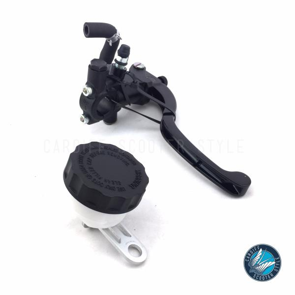 Details about Lambretta BGM Master Cylinder Custom CNC with Remote  Reservoir in Black - Right