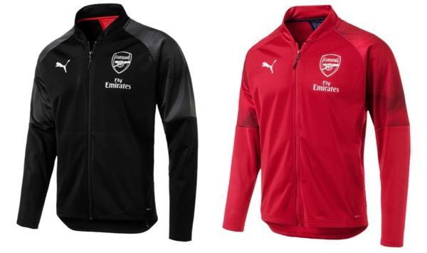 Details about Puma Men Arsenal FC Stadium Training Jacket Red Top Jackets  GYM Jersey 75462901