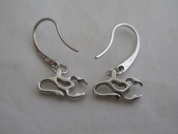 2386b2d4 Details about Nice Emporio Armani Sterling Silver Small Scorpion Earrings