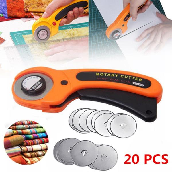 Details About New 20pcs 45mm Rotary Cutter Refill Blades Quilters Sewing Fabric Cutting Tools