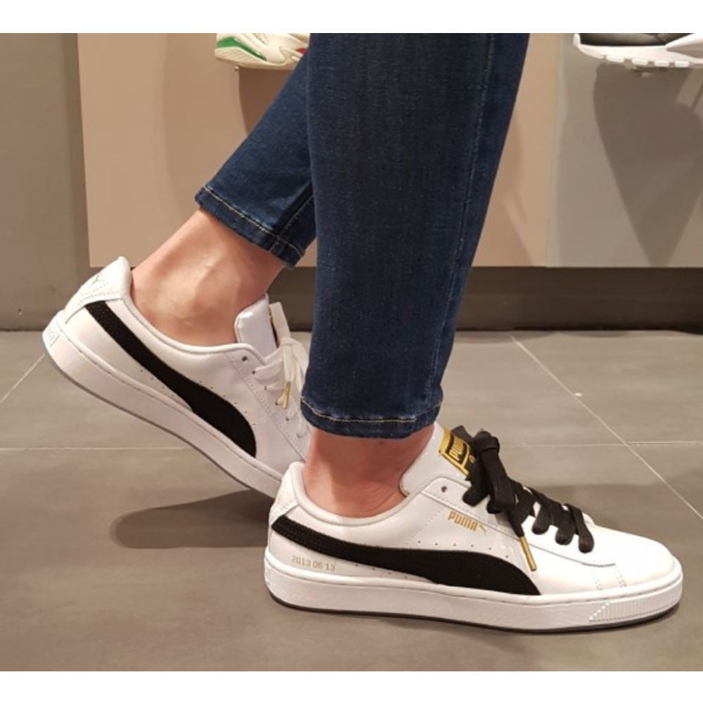 new style eab57 e0382 BTS PUMA Basket Patent Made by BTS with Photo Mix Tracking ...