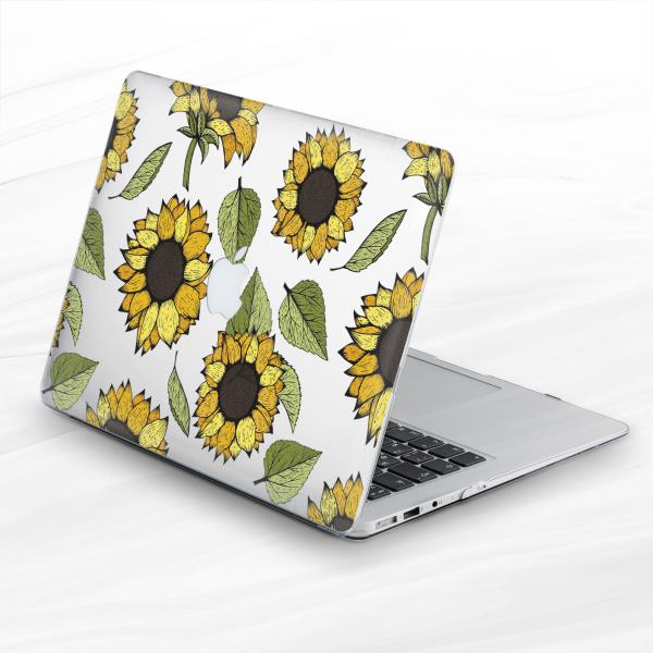 pretty nice 49cc1 7d32e Details about Floral Sunflower Spring Leaf Hard Case Cover Macbook Pro Air  Retina 11 12 13 15