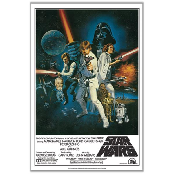 Star Wars 1977 Episode Iv 4 A New Hope Classic Group Cast 24x36 Movie Poster Ebay