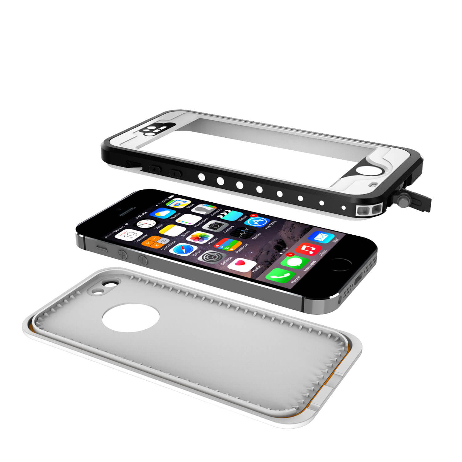 iphone 5 waterproof case iphone 5s 5 waterproof punkcase studstar white 2748