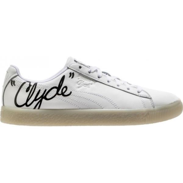 info for 6448b 2cc4b Details about [365803-01 Mens Puma Clyde Signature - White Black Casual  Sneaker