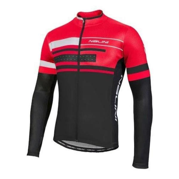 Details about 2018 Nalini Fatica AHS Long Sleeve Cycling Jersey - Black Red 0aa83a216